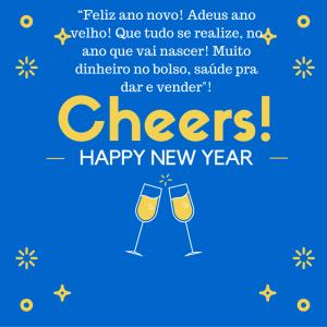 """""""Feliz ano novo! Adeus ano velho! Que tudo se realize, no ano que vai nascer! Muito dinheiro no bolso"""