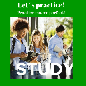 Let´s practice!